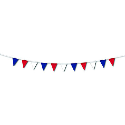 Red, White and Blue 10m Pennant Bunting image number 2