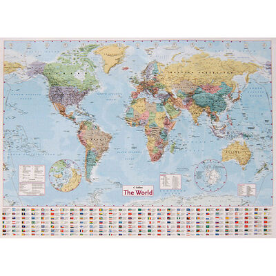 Collins World Wall Map: 40inch x 54inch image number 1