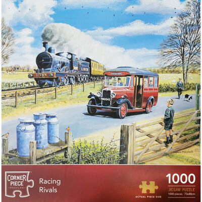Racing Rivals 1000 Piece Jigsaw Puzzle image number 1
