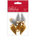 Gold & Silver Mini Trees: Pack of 6 image number 1