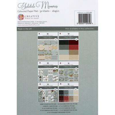 Yuletide Memories Coloured Paper Pad - 32 Sheets image number 4