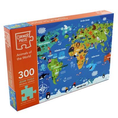 Animals of the World 300 Piece Jigsaw Puzzle image number 1