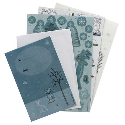 Winter Woodland 3D Decoupage Card Kit image number 2