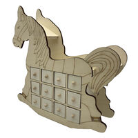 Wooden Rocking Horse Advent Calendar