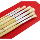 Round Long Handle Paint Brush Set - 6 Pack image number 2