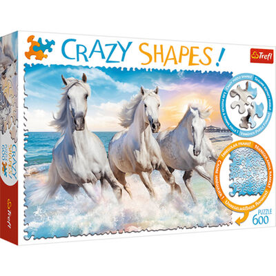 Gallop in the Waves 600 Piece Jigsaw Puzzle image number 1