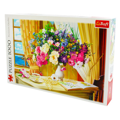 Flowers in the Morning 1000 Piece Jigsaw Puzzle image number 3