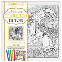 Colouring Canvas: Tropical Masterpieces Book & Marker Set
