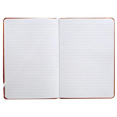 A5 Orange Glitter Cased Lined Journal image number 3