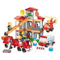 Bauer Blocks Fire Department Playset