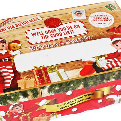 Personalise Christmas Elf Gift Box with Pen image number 2