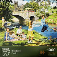Riverbank Picnic 1000 Piece Jigsaw Puzzle
