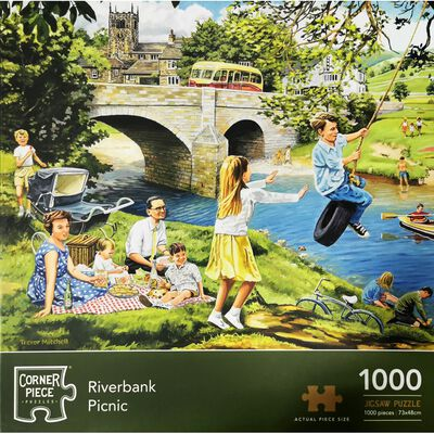 Riverbank Picnic 1000 Piece Jigsaw Puzzle image number 1