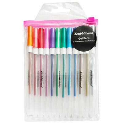 Metallic Gel Pens - 12 Pack image number 1