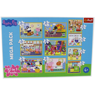 Peppa Pig 10-in-1 Jigsaw Puzzle Set image number 2