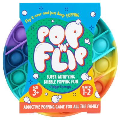 Pop 'N' Flip Bubble Popping Fidget Game: Rainbow Circle image number 1