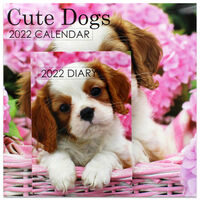 Cute Dogs 2022 Square Calendar and Diary Set