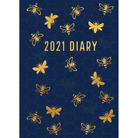 A5 Bee 2021 Day a Page Diary