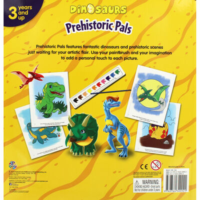 Dinosaurs Prehistoric Pals Poster Paint Book image number 4
