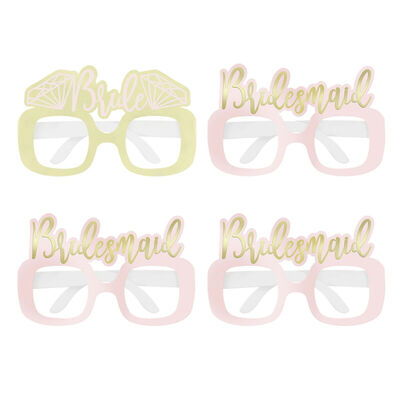 Hen Do Diamond Party Glasses - Pack of 4 image number 1