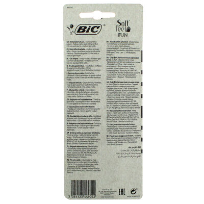Bic Soft Feel Fun Retractable Ball Pens - 4 Pack image number 2