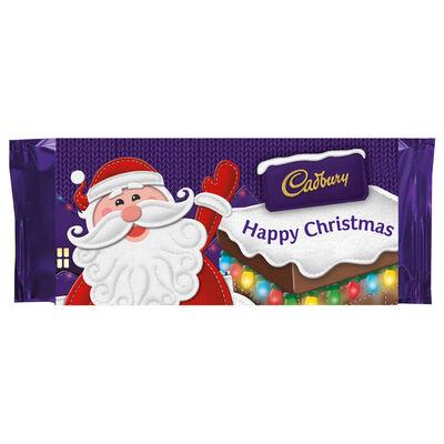 Cadbury Dairy Milk Chocolate Bar 110g - Happy Christmas image number 1