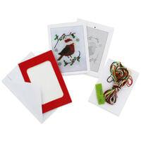 Make Your Own Cross Stitch Card Kit: Robin