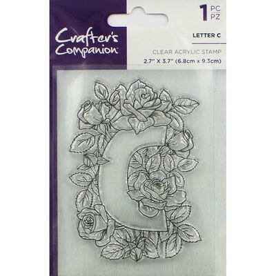 Crafters Companion Clear Acrylic Stamp - Floral Letter C image number 1