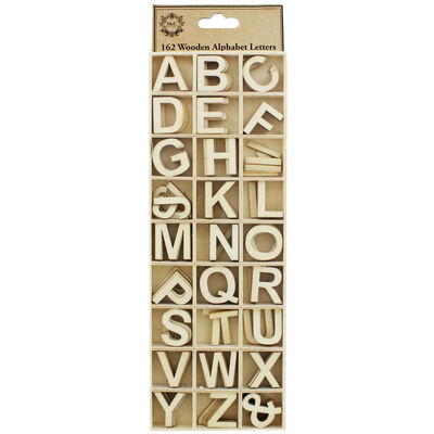 Wooden Alphabet Letters - Pack Of 162 image number 1