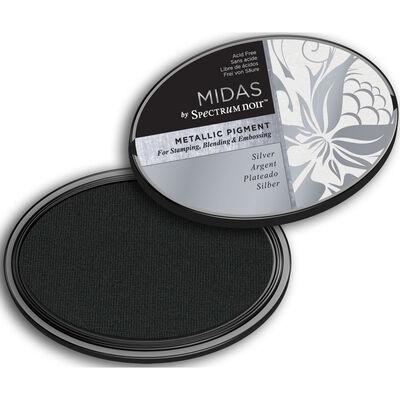 Midas by Spectrum Noir Metallic Pigment Inkpad - Silver image number 2