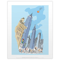 Roald Dahl James and the Giant Peach Buildings Print