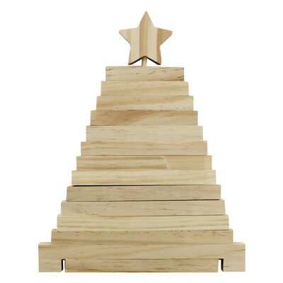 Wooden 3D Christmas Tree image number 2