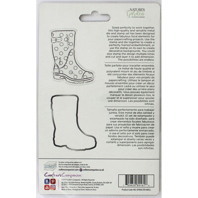Crafters Companion Spring is in the Air Stamp and Die - Wellington Boot image number 2