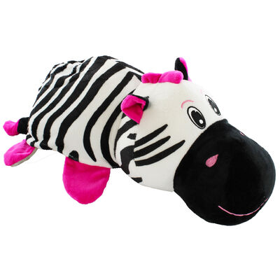 Reversimals 2-in-1 Plush Soft Toy - Zebra and Hippo image number 1