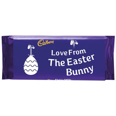 Cadbury Dairy Milk Chocolate Bar 110g – Love From The Easter Bunny image number 1