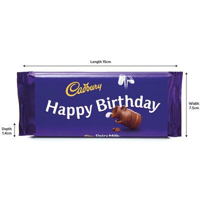 Cadbury Dairy Milk Chocolate Bar 110g - Happy Birthday image number 3