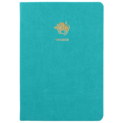 A5 Case Bound PU Zodiac Taurus Lined Journal image number 1
