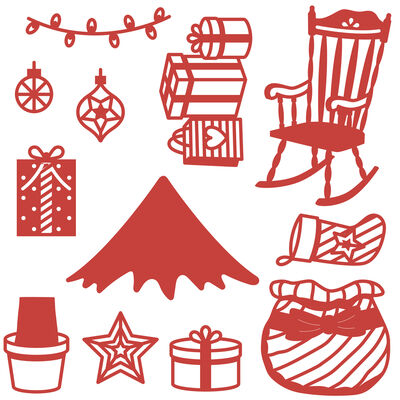 Christmas Tree Build a Scene Metal Die Set image number 2