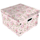 Light Pink Floral Collapsible Storage Box image number 1