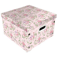 Light Pink Floral Collapsible Storage Box