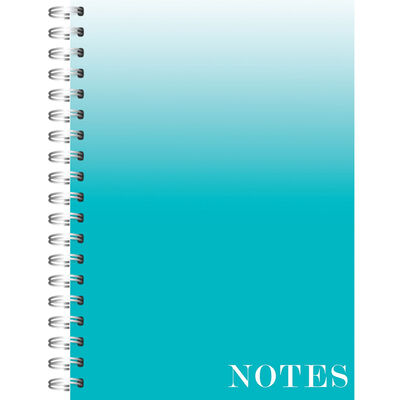 A4 Wiro Ombre Mint Lined Notebook image number 1