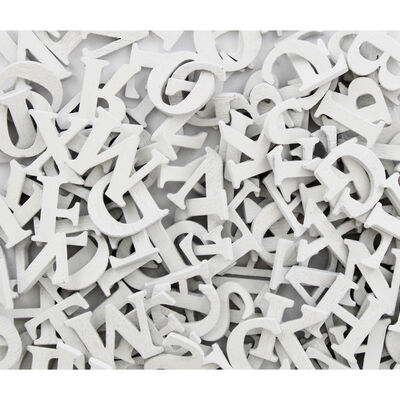 150 Wooden Letters - White image number 2