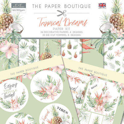Tropical Dreams Paper Kit - 8x8 Inch image number 1