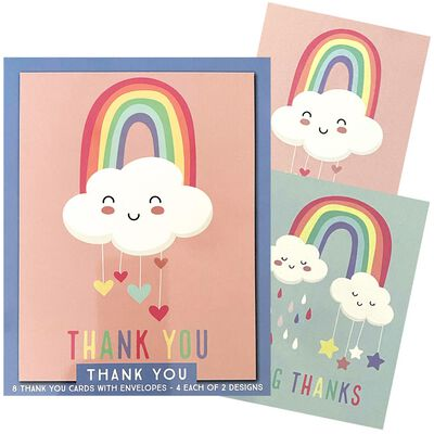 Assorted Thank You Notecards: Pack of 8 image number 3