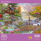 Cottage Garden & Spring Stream 500 Piece Jigsaw Puzzle with Portapuzzle Board Bundle image number 3