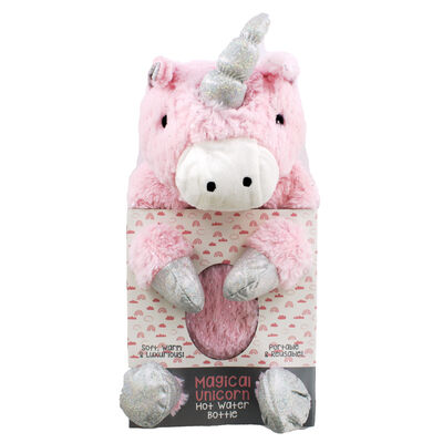 Pink Magical Unicorn Hot Water Bottle image number 1