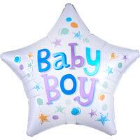 18 Inch Baby Boy Star Helium Balloon