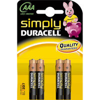 Duracell Simply AAA Batteries - Pack Of 4