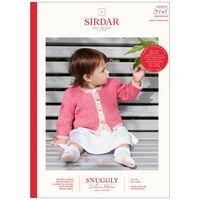 Sirdar Snuggly Cashmere Merino DK: Baby Cardigan Knitting Pattern 5242