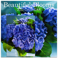 Beautiful Blooms 2022 Square Calendar and Diary Set